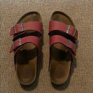 Red Leather Birkenstocks
